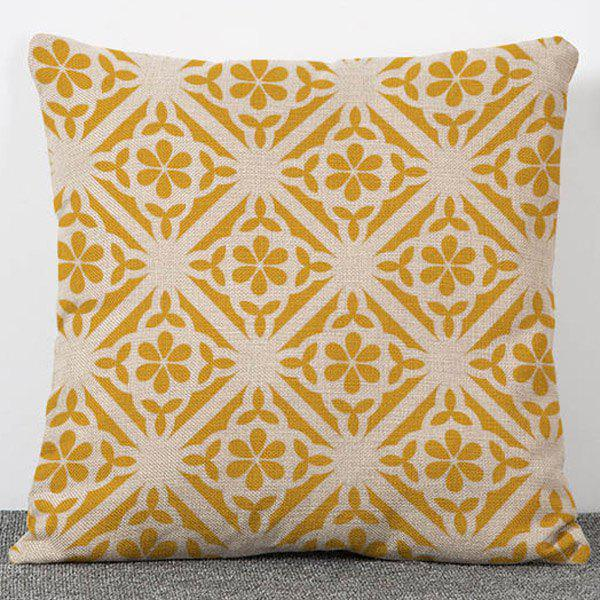 Hot Sale Multicolore Pattern Flax Pillow Case(Without Pillow Inner) - COLORMIX