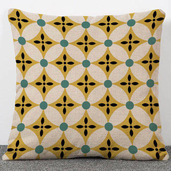 Chic Quality Geometry Pattern Flax Pillow Case(Without Pillow Inner)