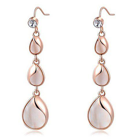 Pair of Trendy Faux Opal Water Drop Earrings For Women