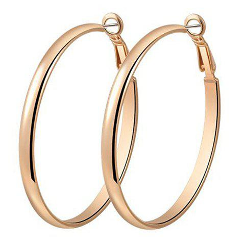 Pair of Chic Simple Style Hoop Earrings For Women - GOLDEN