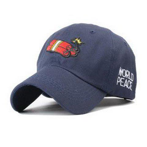 Stylish Explosive and Letter Embroidery Men's Baseball Cap - CADETBLUE