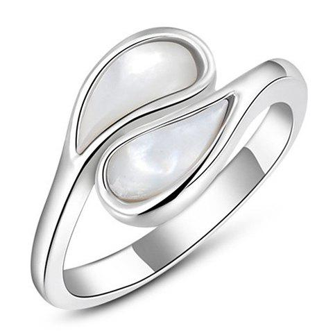 Trendy Simple Style Faux Opal Ring For Women