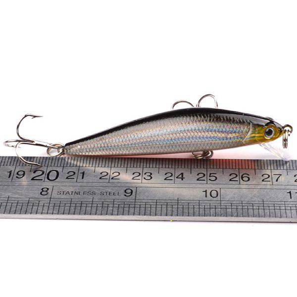 High Quality 5PCS 7CM Bionic Hard Bait Artificial Fishing Lure with Hook - COLORMIX