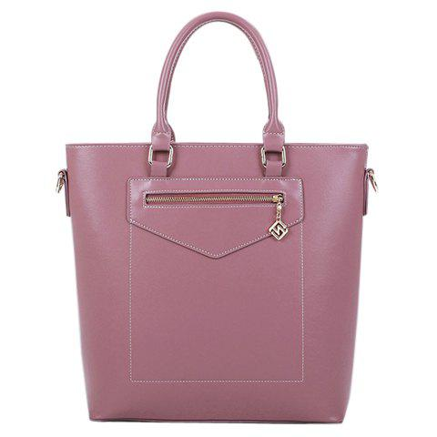 Elegant Solid Color and Stitching Design Women's Tote Bag - PINK
