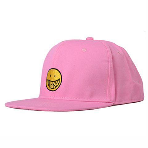 Chic Smilling Face Embroidery Women's Baseball Cap