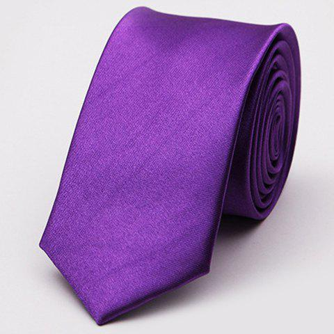 Stylish Various Candy Colors 5CM Width Men's Tie - PURPLE