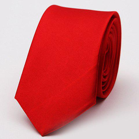Stylish Various Candy Colors 5CM Width Men's Tie - RED