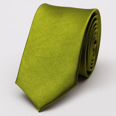 Stylish Various Candy Colors 5CM Width Men's Tie - OLIVE GREEN