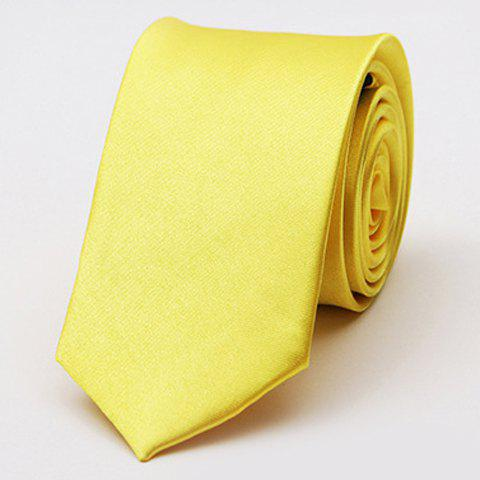 Stylish Various Candy Colors 5CM Width Men's Tie - YELLOW