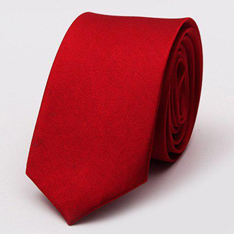 Stylish Various Candy Colors 5CM Width Men's Tie - DEEP RED