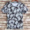 Round Neck 3D Dog Print Short Sleeves Men's Funny T-Shirt - COLORMIX S