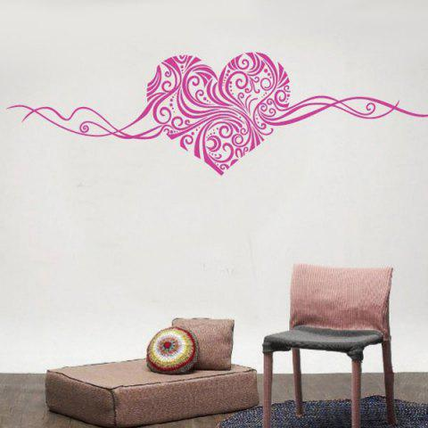 Stylish Heart Vine Pattern Bedroom Decoration Wall Stickers - ROSE