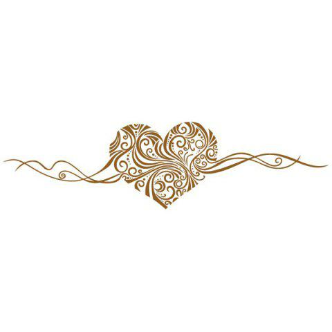 Stylish Heart Vine Pattern Bedroom Decoration Wall Stickers - BROWN