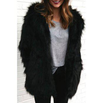 Bear Faux Fur Hooded Coat