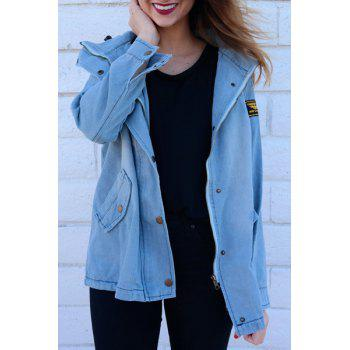 Denim Jacket With Hooded Waistcoat - LIGHT BLUE LIGHT BLUE