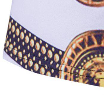 Loose Fit Golden Thongs Print Short Sleeves Round Neck Men's T-Shirt - COLORMIX 2XL