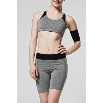 Sweet Women's Scoop Neck Hollow Out Skinny Gym Outfits