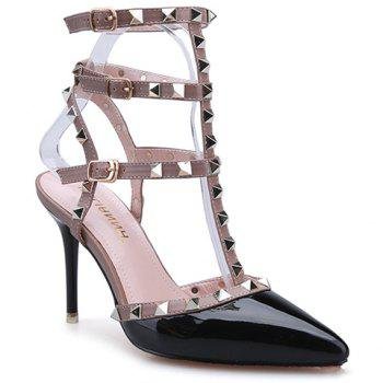 Sexy Patent Leather and Rivets Design Sandals For Women