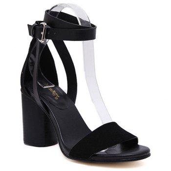Trendy Suede and Buckle Strap Design Sandals For Women