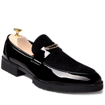 Fashion Patent Leather and Black Design Formal Shoes For Men