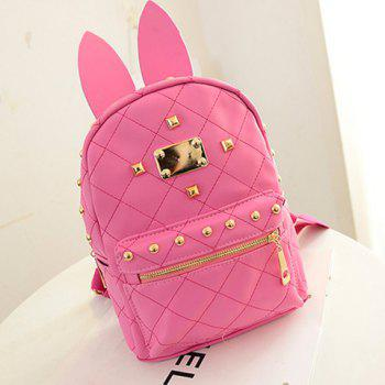 Trendy Rabbit Ears and Candy Color Design Women's Backpack - ROSE