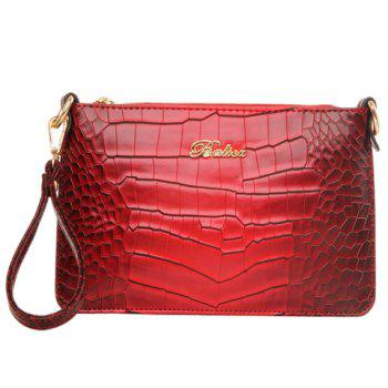 Fashionable Metal and Gradient Color Design Women's Clutch Bag - DEEP RED DEEP RED