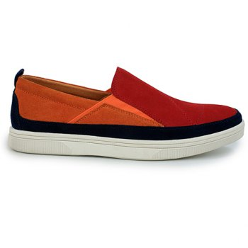 Fashionable Color Block and Suede Design Casual Shoes For Men - 39 39