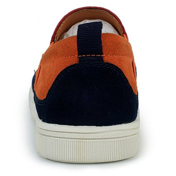 Fashionable Color Block and Suede Design Casual Shoes For Men - 43 43