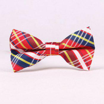 Stylish Tartan Check Pattern Men's Bow Tie