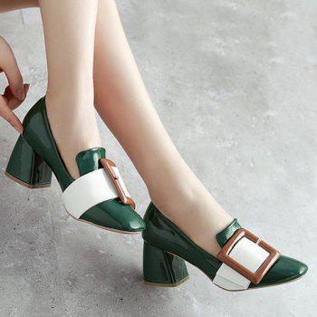 Stylish Buckle and Color Block Design Women's Pumps - 37 37