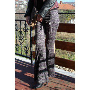 Women's Chic High Waist Bowknot Lace Loose Flare Pants