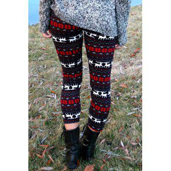 Trendy High Waist Geometrical Print Leggings Hit Color For Women - COLORMIX ONE SIZE(FIT SIZE XS TO M)