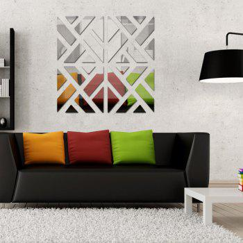 Stylish DIY Geometric Combination Type 3D Mirror Wall Stickers