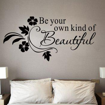 Stylish Removable Letter Pattern Bedroom Decoration Wall Stickers