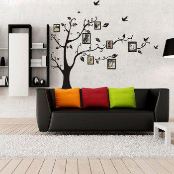 Stylish Large Size Plant Pattern Bedroom Decoration Photo Wall Stickers - BLACK