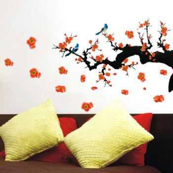 Stylish Floral Plant Pattern Bedroom Decoration TV Background Wall Stickers - COLORMIX