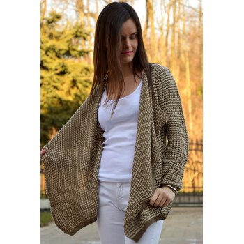 Casual Collarless Knitted Long Sleeve Cardigan For Women - S S