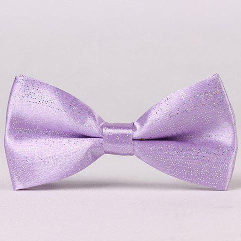 Stylish Sequins Embellished Solid Color Men's Bow Tie - LIGHT PURPLE