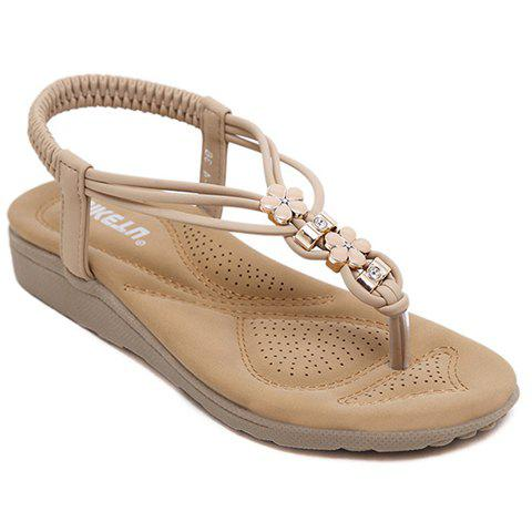 Fashionable Flip Flops and Elastic Band Design Sandals For Women - APRICOT 36