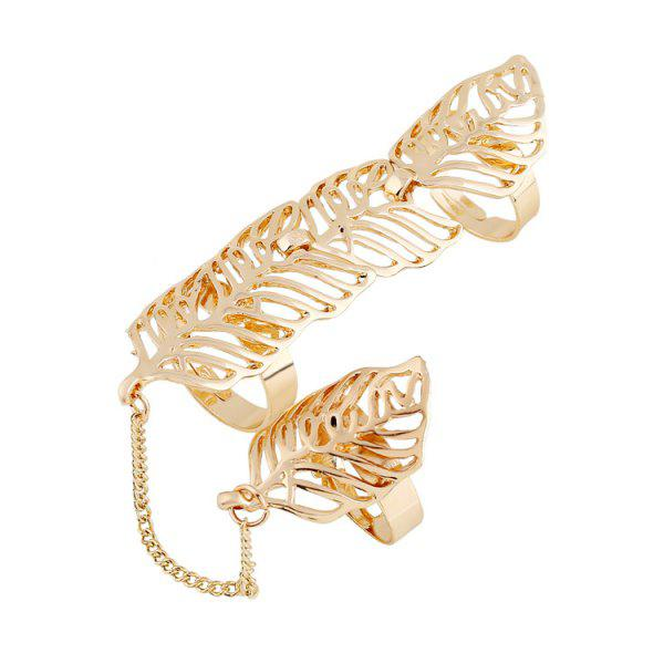 Chic Hollow Out Leaf Ring For Women