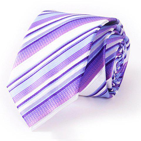 Stylish Various Twill Pattern 7CM Width Men's Tie - VIOLET ROSE