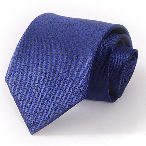Stylish Splash-Ink Pattern 8.5CM Width Deep Blue Tie For Men - DEEP BLUE