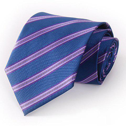 Stylish Purple Twill Pattern 8.5CM Width Men's Deep Blue Tie - DEEP BLUE
