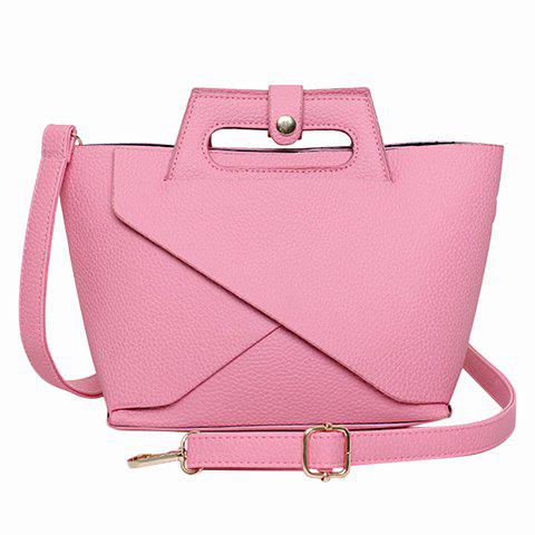 Graceful Solid Color and PU Leather Design Women's Tote Bag - PINK
