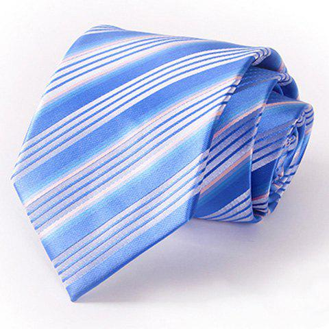 Stylish Multiple Stripes Pattern 8.5CM Width Men's Blue Tie - BLUE
