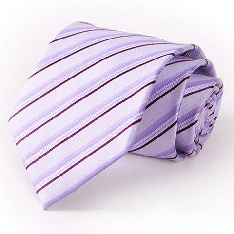 Stylish Twill Pattern 8.5CM Width Light Purple Tie For Men - LIGHT PURPLE
