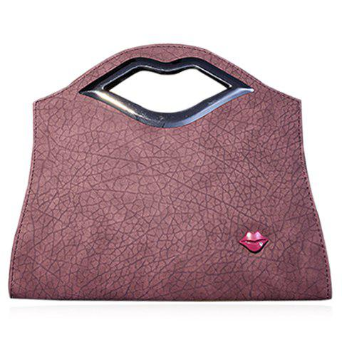 Trendy Metal and Lip Pattern Design Women's Tote Bag - DEEP PINK