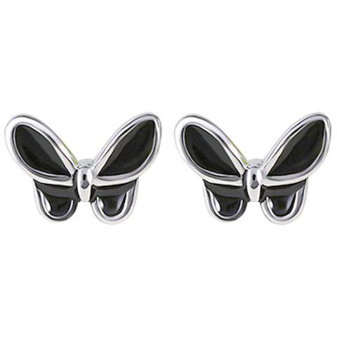 Pair of Butterfly Stud Earrings - SILVER