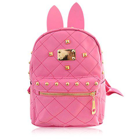 Trendy Rabbit Ears and Candy Color Design Women's Satchel