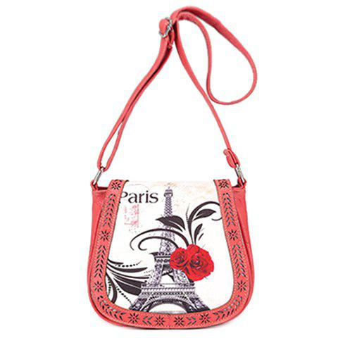 Fashionable Floral Print and Engraving Design Women's Shoulder Bag